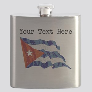 Cuba Flag (Distressed) Flask